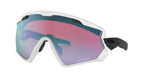 Lunettes oakley wind jacket 2 0 mat white prizm snow sapphire ref oo9418 0345