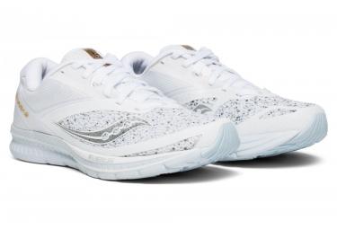 Chaussures de Running Femme Saucony Kinvara 9 White Noise Blanc / Bleu