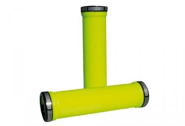 SB3 Pair of Black Grips KHEOPS Neon Yellow