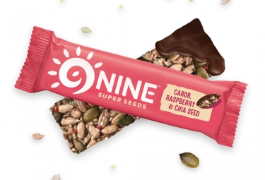 9NINE chia - carob & Raspberry Seed Bars 1 x 40g