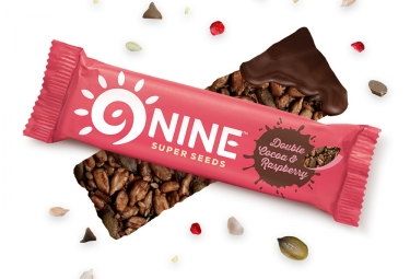 9NINE Cocoa - Raspberry Bars 1 x 40g