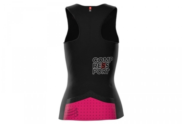 Maillot sans Manche Femme Compressport Triathlon Postural Ultra Noir
