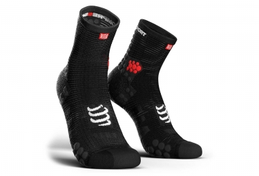 Chaussettes compressport pro racing v3 0 run haute noir 35 38