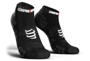 Chaussettes compressport pro racing v3 run basse noir 35 38