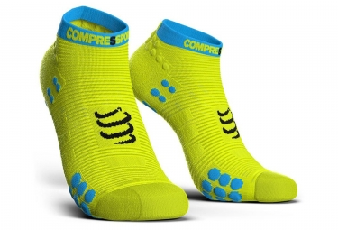 Compressport ProRacing Socks V3 Run Low Yellow Blue