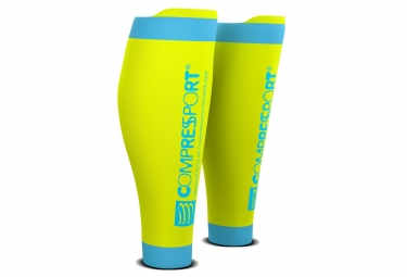 Compressport R2 V2 Compressions Calf Yellow Blue