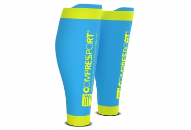 Compressport R2 V2 Compressions Calf Blue Yellow