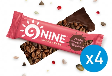 9NINE Cocoa - Raspberry Bars 4 x 40g