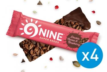 9NINE Cocoa - barras de frambuesa 4 x 40g