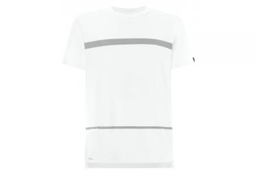 T shirt manches courtes oakley method stripe blanc l