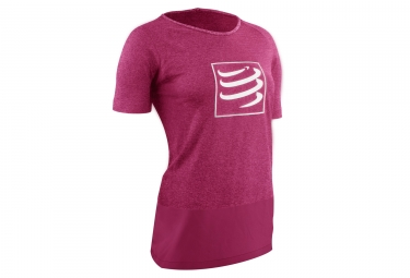 Compressport Training Woman camiseta rosa
