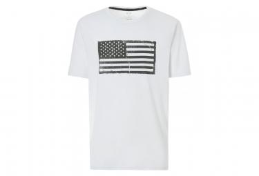 T shirt manches courtes oakley 50 flag blanc xl
