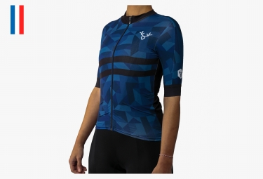 LeBram La Madeleine Woman Short Sleeves Jersey  Blue Pro Fit