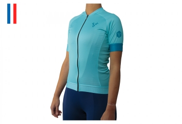 LeBram Eze Women's Short Sleeve Jersey Light Blue Adjusted Fit