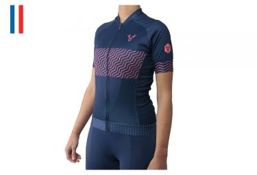 LeBram Pailhères Woman Short Sleeves Jersey Blue Adjusted Fit