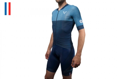 Maillot manches courtes lebram izoard bleu coupe pro xs
