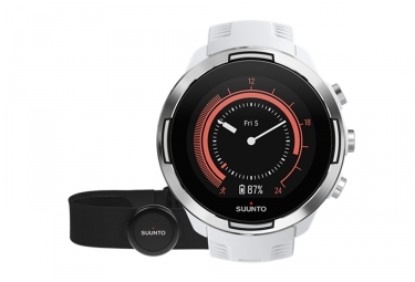 Suunto GPS Watch NINE 9 G1 BARO White + Smart Sensor HR
