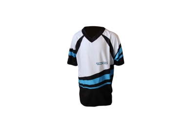 Trick X Kurtz Kids Jersey Short Sleeves White / Blue