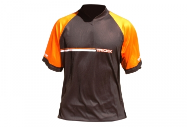 Maillot Tricks X Manches Courtes Noir / Orange