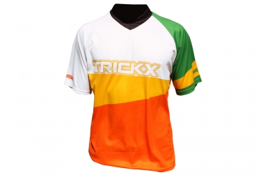 Maillot Tricks X Manches Courtes Orange / Jaune