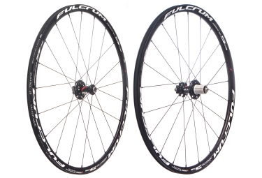 Paire de roues fulcrum racing 5 disc 6 trous pneu 15x100 9x135mm corps shimano sram 2017