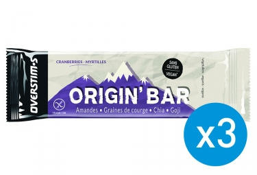2+1 Overstims Origin' Bar Energy Bar Cranberries Blueberries