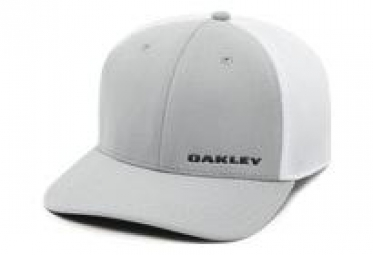 Casquette oakley silicon bark trucker 4 0 golf gris l xl