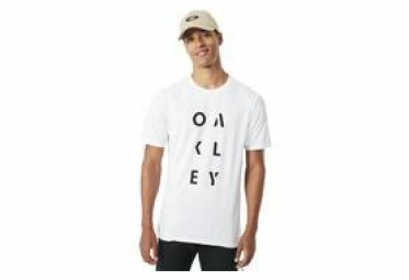 T shirt manches courtes sc oakley rundown blanc l