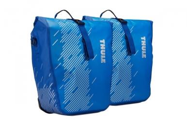 Paire de sacoches de porte bagage thule shield l cobalt bleu