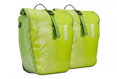 Paire de sacoches de selle thule shield chartreuse s vert