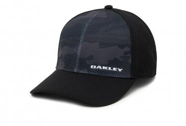Casquette oakley silicon bark trucker print 2 0 noir