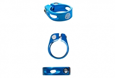 Collier de selle a vis sb3 unicolor bleu 31 6