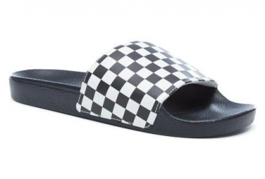 Sandali Slide-on Vans Checkboard Nero / Bianco