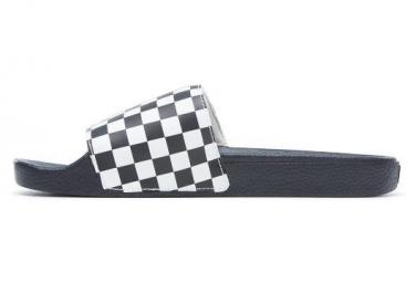 Sandales Vans Checkerboard Slide-on Noir/ Blanc