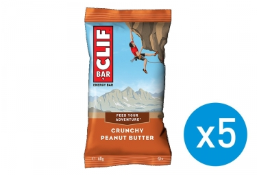 CLIF BAR  5 Energy bars Crunchy Peanut butter