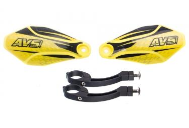 Protege mains avs kit deco patte alu avec charniere jaune noir
