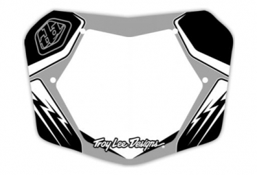 Plaque de numero troy lee designs 7 argent noir blanc