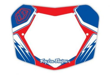 Plaque de numero troy lee designs 7 bleu blanc rouge