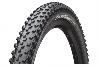 Pneu vtt continental cross king protection 27 5 plus tubeless ready souple blackchil