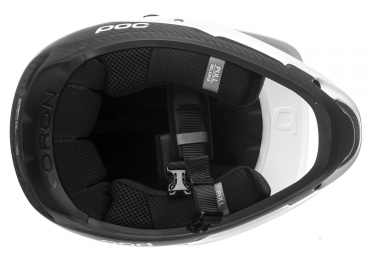 Casco Integral Poc Coron Air Carbon Spin Blanc / Noir
