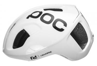 Casco Poc Ventral Spin Raceday Blanc