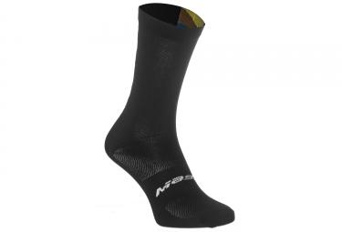 Paire de chaussettes massi noir multi color l