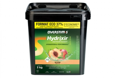 Boisson energetique overstims hydrixir antioxydant the peche 3kg