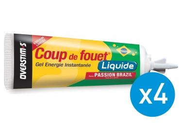 Bundle 3+1 Free OVERSTIMS Energy Gel LIQUID COUP DE FOUET Passion Fruit