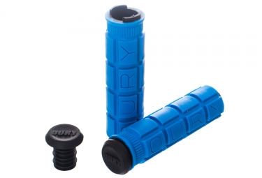 Paire de Grips Oury Lock On Bleu