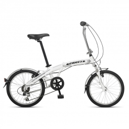 Velo pliant evolution city blanc