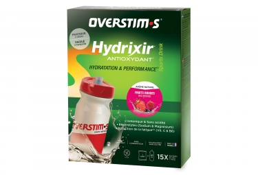 Boisson energetique overstims hydrixir antioxydant 15 sachets fruits rouge