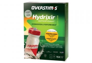 Boisson energetique overstims hydrixir antioxydant 20 sticks assortiment d aromes