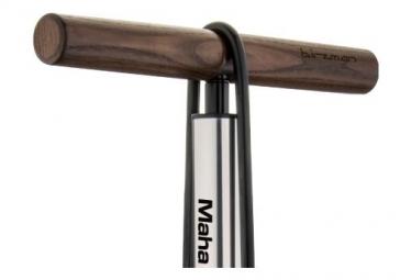 Birzman Grand-Maha Push & Twist III Floor Pump 220 PSI / 15 Bar Silver