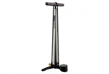 Birzman Maha Push & Twist Fatty Floor Pump 25 PSI / 1.7 Bar Silver